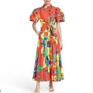Christopher John Rogers Floral Puff Sleeve Dress